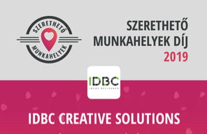 IDBC is 5 years old. We became a 100% staffing and recruitment company, Lovable Workplace Award, Professional Community building, further dynamic expansion: <br>HUF 1.2 bn. Revenue, a team of 91 persons